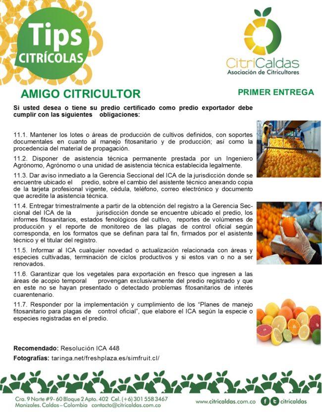 Tips Citricaldas- Obligaciones predio exportador 1