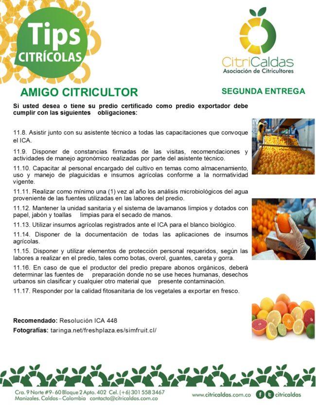 Tips Citricaldas- Obligaciones predio exportador 2